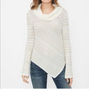 WHBM Asymmetrical Striped Sweater